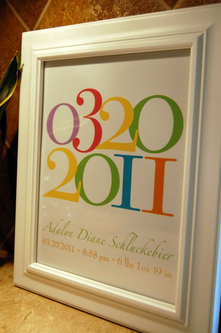 Important Dates  Custom Personalized Baby Birthdate by karimachal, $20.00