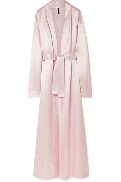 Pastel-pink satin Slips on 77% viscose, 23% silk Dry clean Made in Italy