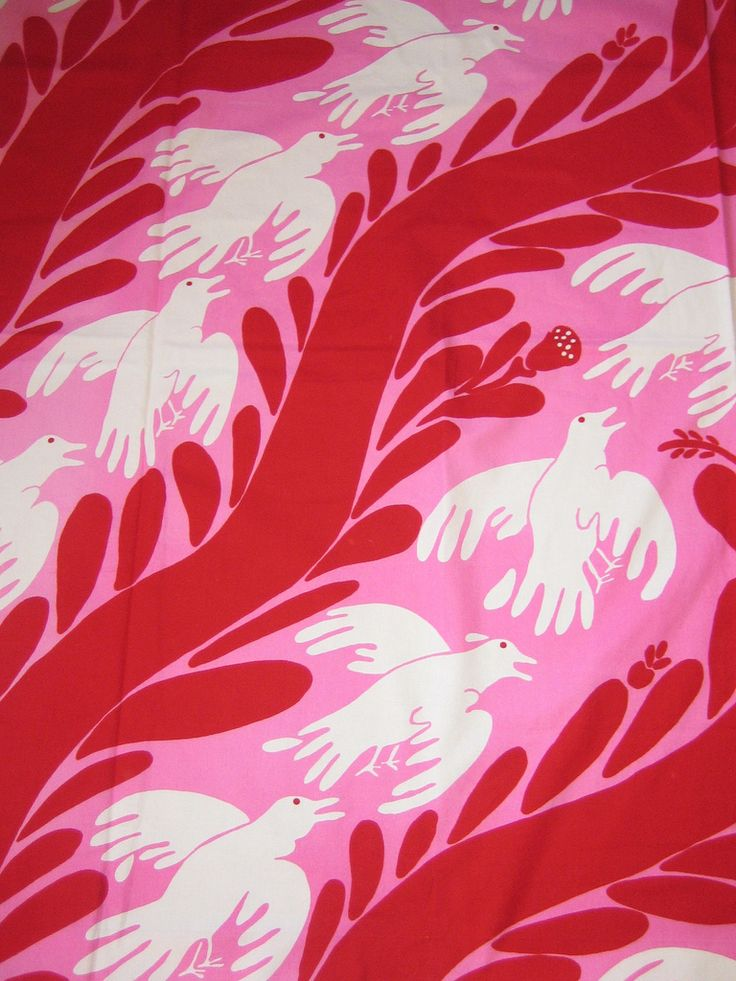 https://flic.kr/p/aGeGRB | Fågel Fenix | Fabric 1972 Design Carl Johan de Geer. Made by KF Interiör, Stockholm, Sweden