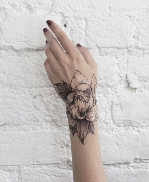 Floral Dotwork and Fine Line Tattoos by Dasha Sumkina