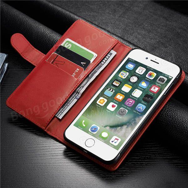 Multifunctional Detachable Wallet Card Slots PU Leather Case for iPhone7/7Plus/6/6s/6Plus/6sPlus Sale - Banggood.com