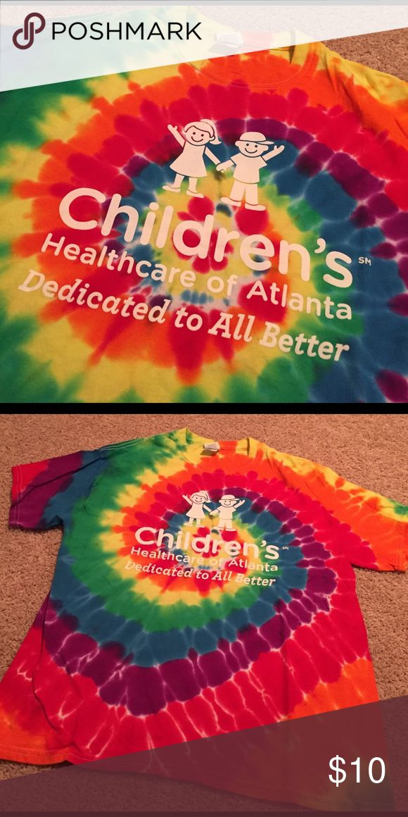 Children's Healthcare of Atlanta Tie Dye T-Shirt! Children's Healthcare of Atlanta Tie Dye T-Shirt! Size: Large!! Only worn once, in perfect condition!!! Gildan Tops Tees - Short Sleeve