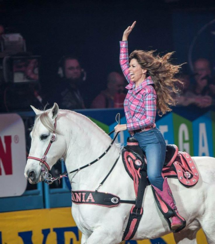 Dec. 12, 2013: Shania Twain ❦  Official NFR Experience's Photos in 2013 Wrangler NFR Day Eight - Action