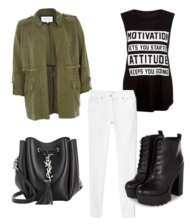 Motivation by marieck-1 on Polyvore featuring polyvore, fashion, style, River Island, MANGO and Yves Saint Laurent