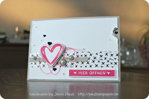 Stampin'Up! Grußkarte  Stempel WashiTape: http://paulinespapier.de/9711/neue-ideen/