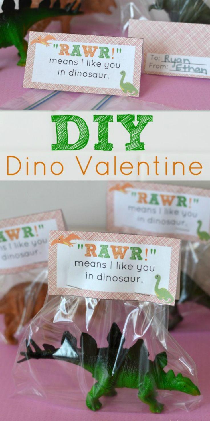 easy diy dinosaur valentine printables for kids  dinosaur