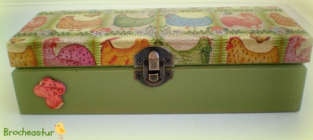 Caja de madera para guardar tus lapices decoupeage - Cajas de plastico para almacenar ...