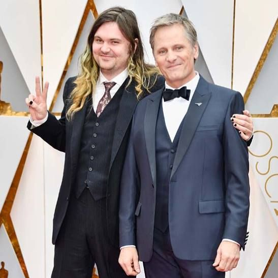 Viggo Mortensen and his Son Henry