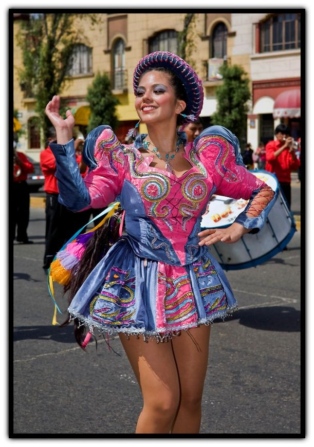 TRAJES TIPICOS DEL PERU Traditional Peruvian Dresses: Caporales (Puno) The youthful, lively, sensual and energetic dance Caporales