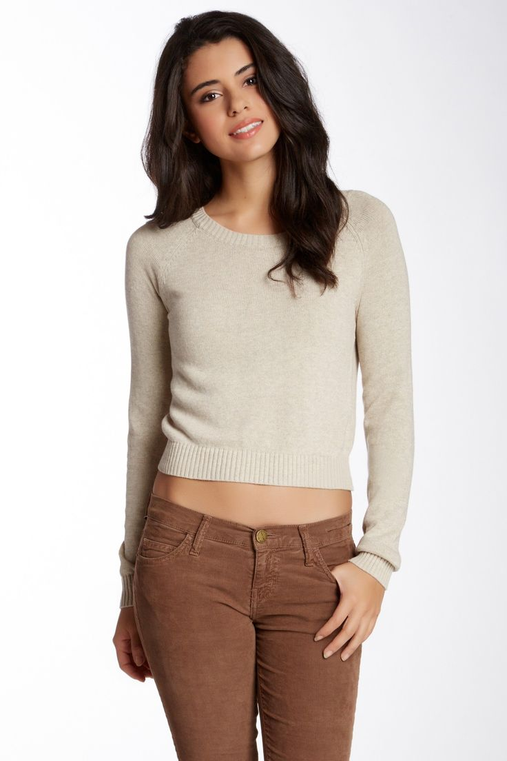 Abound | Long Sleeve Cropped Sweater (Juniors | Nordstrom, Free ...