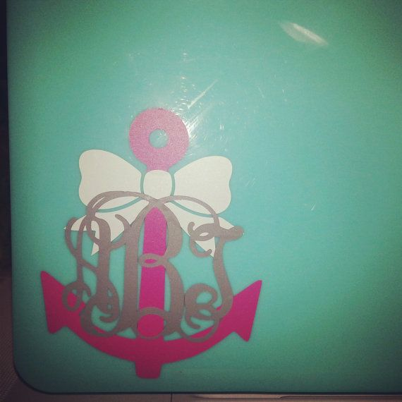 Best Bows Before Bros Images On Pinterest Monograms Car - Monogram car decal anchor