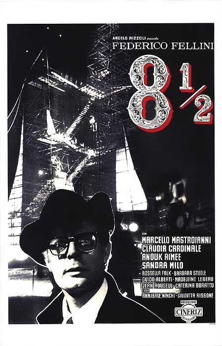 8 1 2 federico fellini movie poster film pinterest for Fellini rotterdam