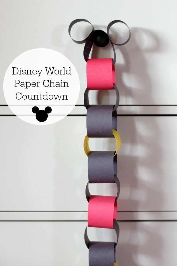 Disney World Vacation Paper Chain Countdown