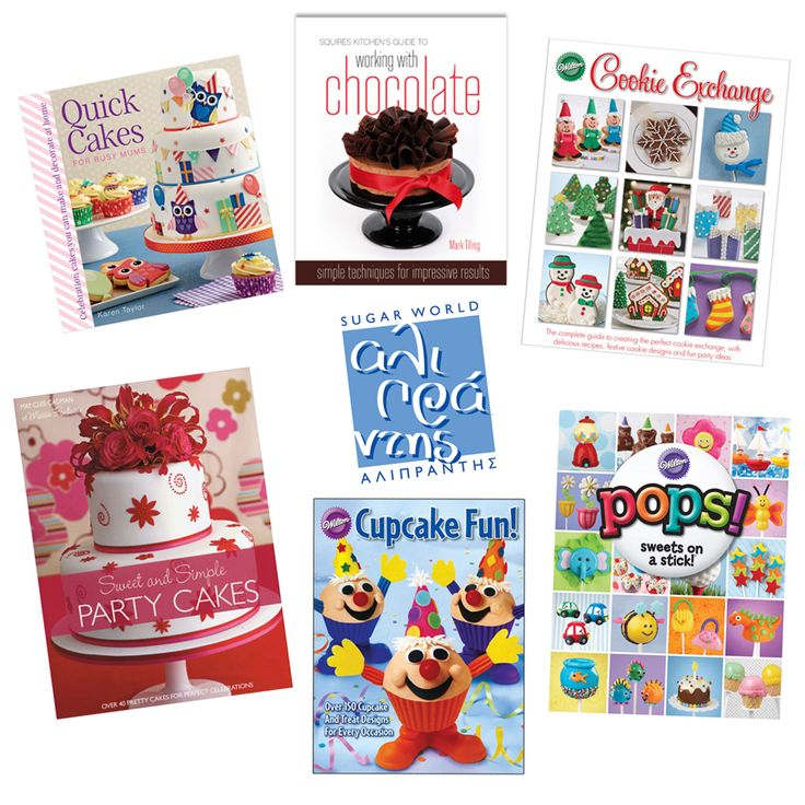 Δημιουργήστε απλά αλλά απίστευτα κομψά κέικ για κάθε περίσταση!  Βρείτε αφορμές για να φτιάξετε γλυκό και διακοσμήστε το με ακαταμάχητα σχέδια, χρώματα και όποιο μέγεθος και σχήμα σας αρέσει!  Στα βιβλία μας θα βρείτε και προτάσεις για cupcakes! #sugarart #cutters