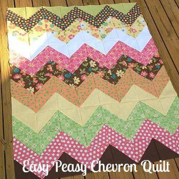 My Quilt Infatuation: Easy Peasy Chevron Quilt Tutorial