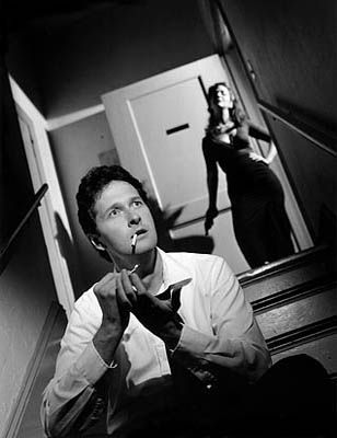 Another classic noir composition: the off-angle shot