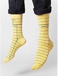 Library Card Socks | Clothes I Want | Socks, Yellow socks