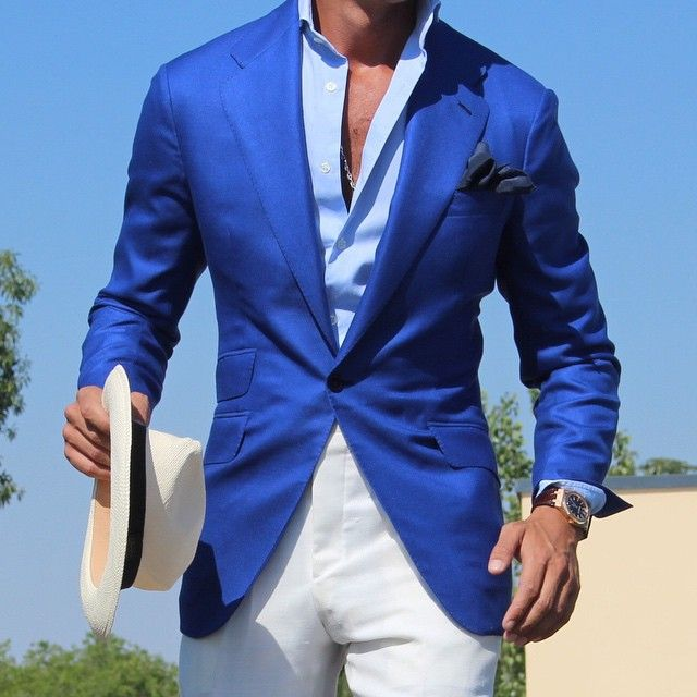 Royal Blue Cashmere Jacket by absolute bespoke