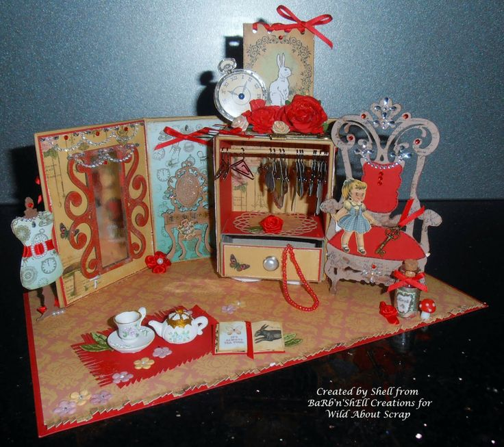 BaRb'n'ShEllcreations - Alice in Wonderland's Wardrobe  - created by Shell for Wild About Scrap