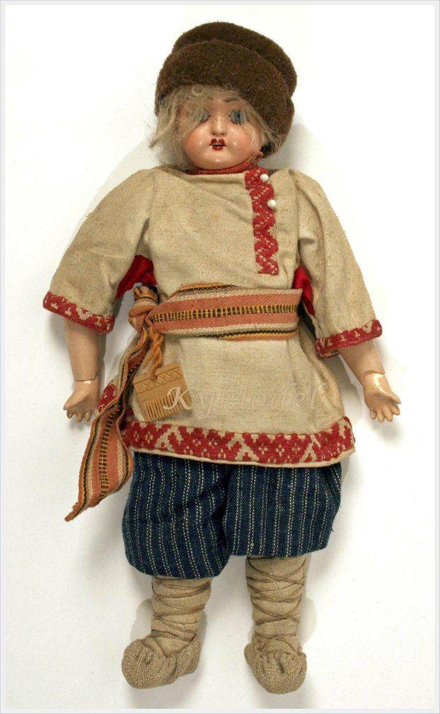 Куклы в русских национальных костюмах из коллекции Шабельской Н.Л.