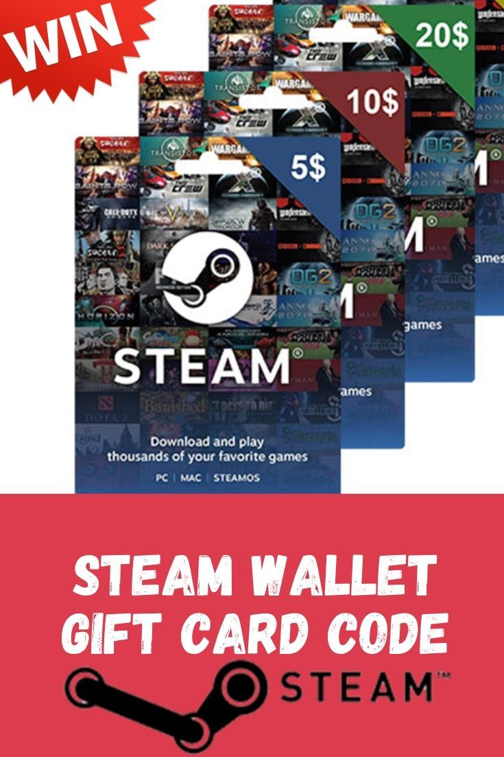 Win 5 10 20 steam wallet gift card code wallet