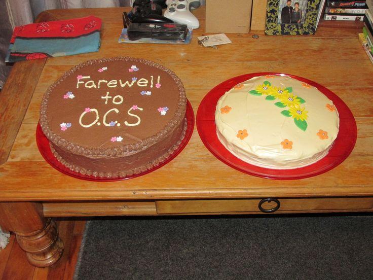 chocolate cake and red velvet cake