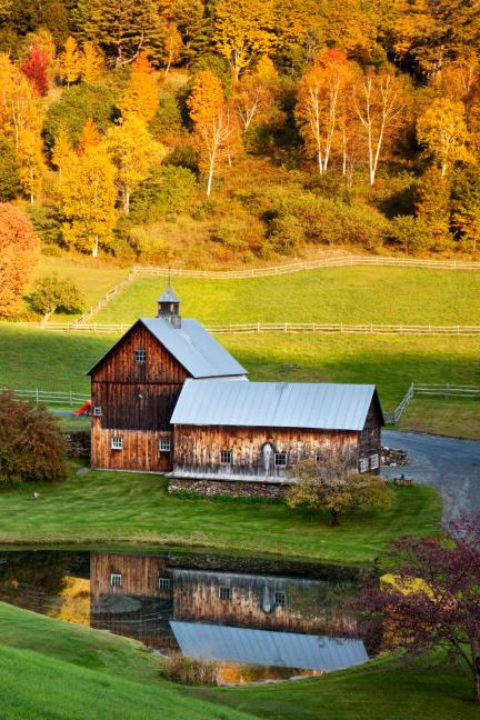 One of our favorite fall activities? Meandering through the countryside on a lazy Sunday to take in the beauty of all the changing leaves. To celebrate the arrival of autumn, we've compiled a virtual tour of some stunning country barns and fall leaves taken across New England.