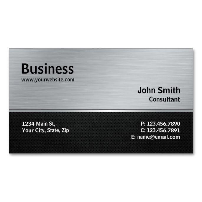 2191 best construction business cards images on pinterest professional elegant modern silver and black metal business card reheart Gallery