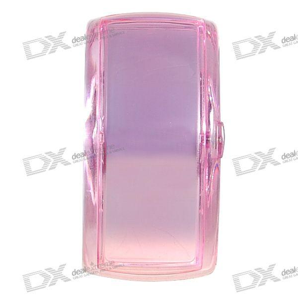 Odm Stylish LED Dot-Matrix Fashion Watch with Weekday Display (Translucent Pink)