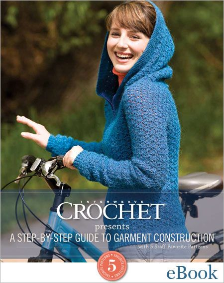 5 Crochet sweater patterns and details on seaming and fastening. Available for digital download, eBook