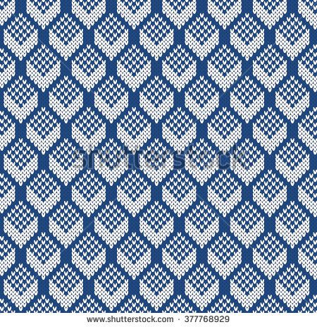 Rhomb Sweater Design. Seamless Knitting Pattern