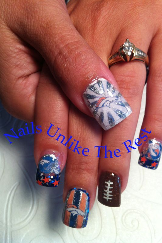 Denver Bronco Nails - 60 Best Denver Broncos Nails Images On Pinterest Denver Broncos