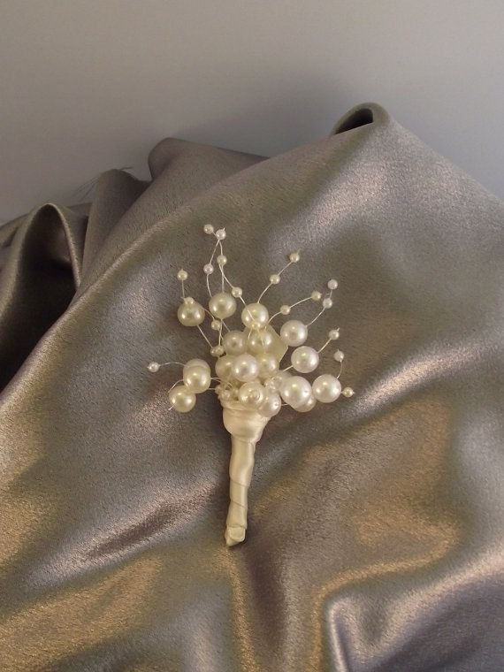 pearl wedding bouquet bridal bouquet bridesmaid by UptownGirlzz