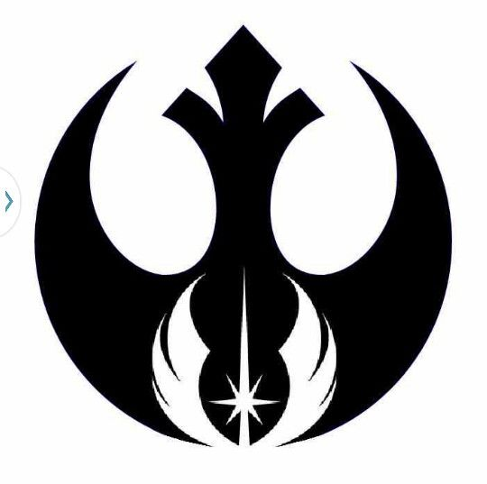 Rebel allience and jedi order as one; I'd get it done right behind one of my ears maybe.