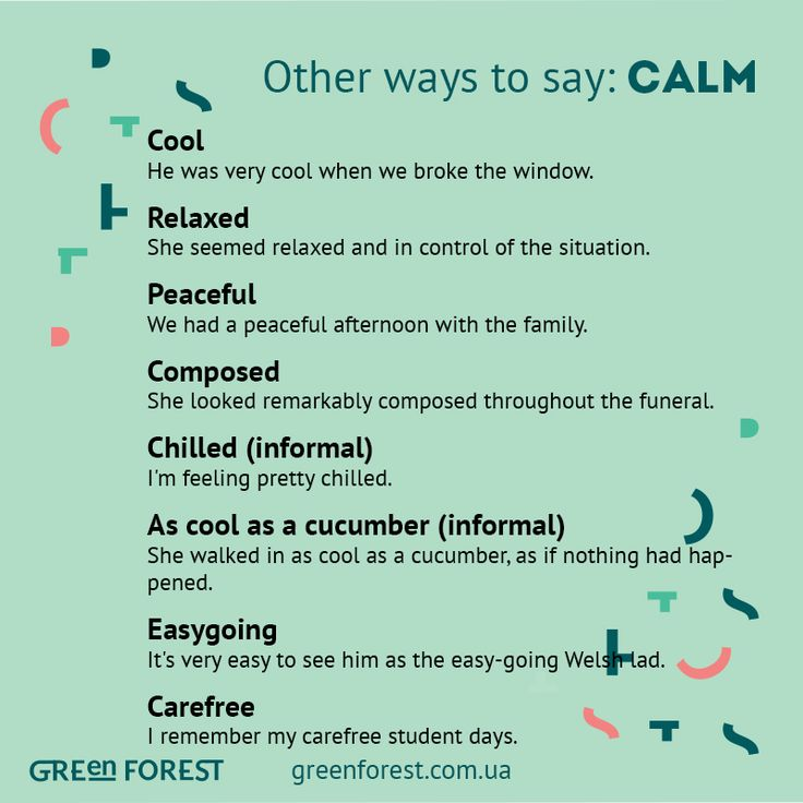 Synonyms to the word CALM. Other ways to say CALM. Синонимы к английскому слову CALM.