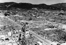 A Igreja Metodista Nagarekawa está entre as ruínas de Hiroshima.