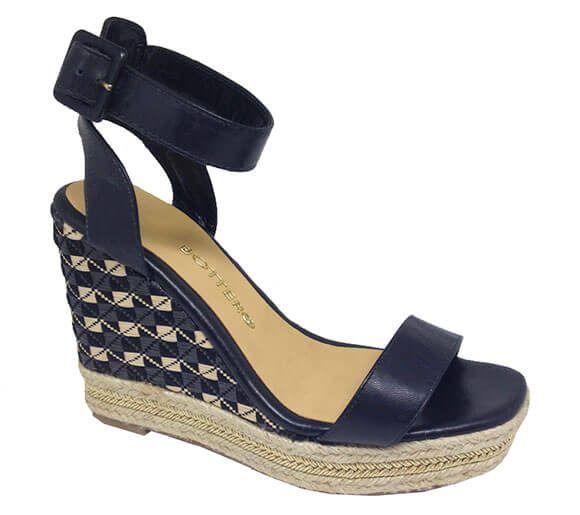 Sandália anabela salto cortiça | Bottero Calçados