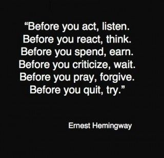 patience: Hemingway Quotes, Good Quotes