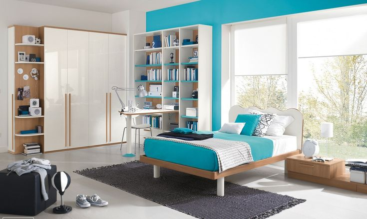 ikea teal/mint white bedroom - Google Search
