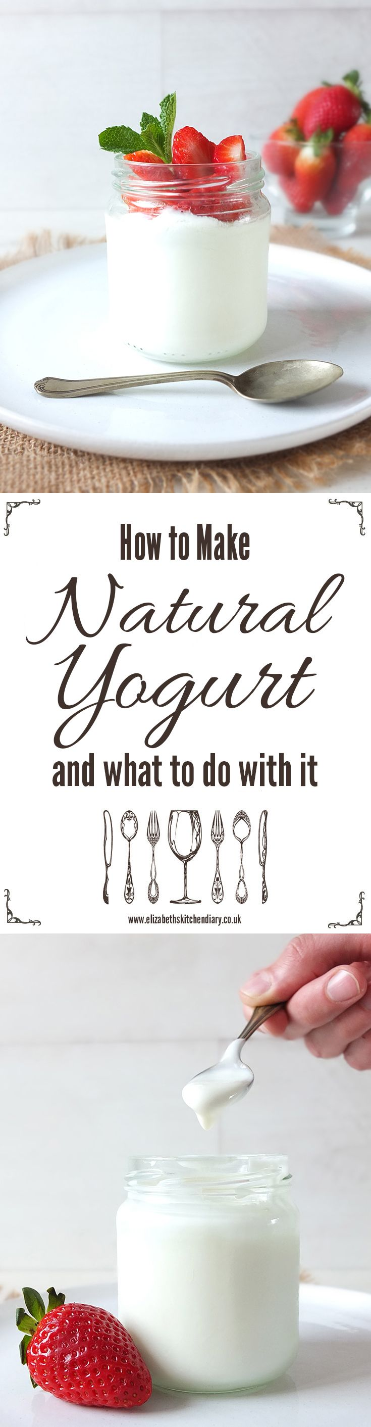 Home made natural yogurt is so simple to make! Find out how over on Elizabeth's Kitchen Diary, and there are loads of recipe suggestions as to what to do with it afterwards too.