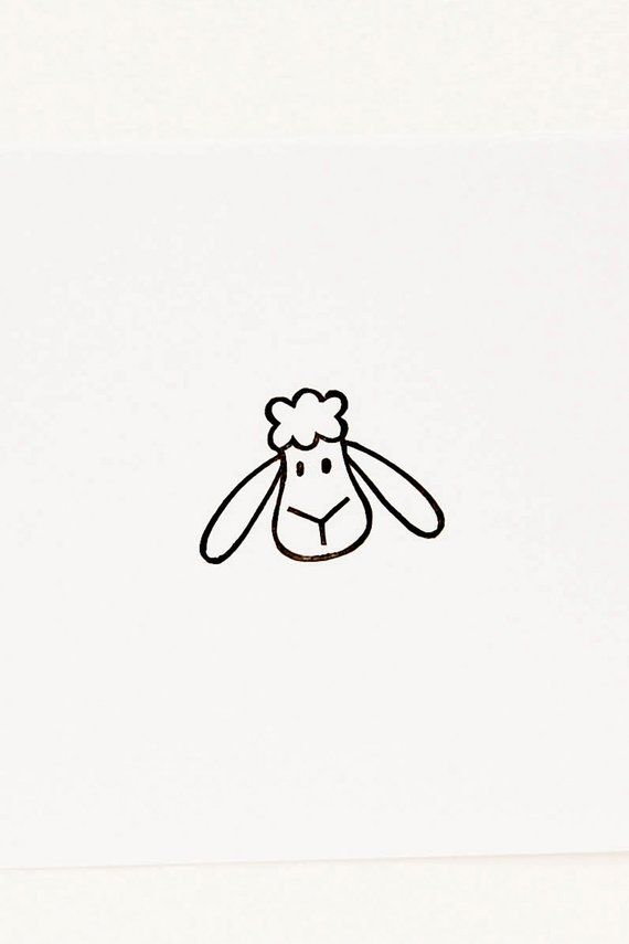Sheep rubber stamp, personalized stamp, animal stamps, lamb stamp, cute stationary, best friend gift, custom rubber stamp