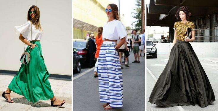 Summer alert: 11+1 looks με τη μακριά φούστα Για αέρινες και δροσερές εμφανίσεις. #jennygr