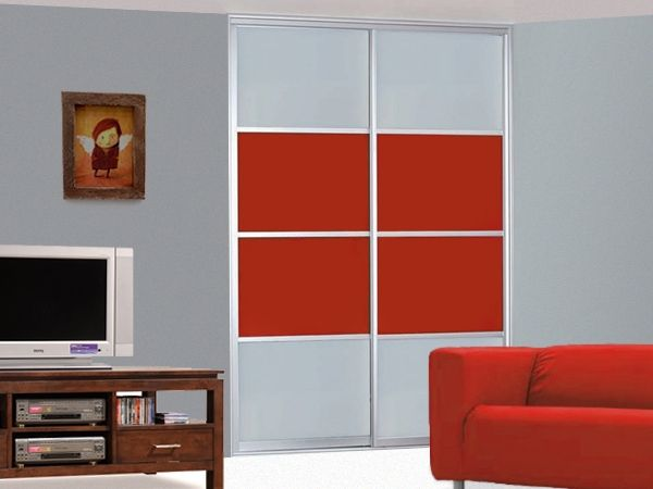 Interior Design Sliding Panel Room Dividers For Family Room Design With  Comfy Red Couch And Red