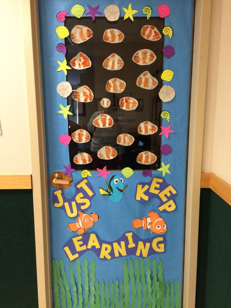 18 best images about preschool ocean week on pinterest for Nursery class door decoration