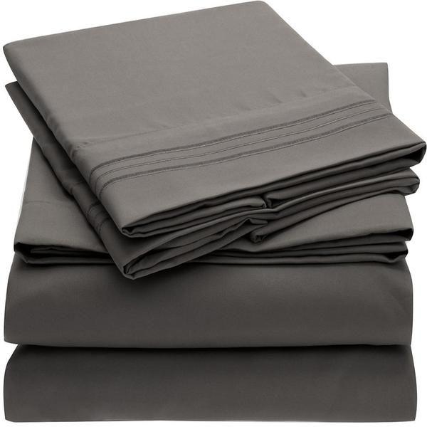 1800 Collection Microfiber Sheet Set Light Colors Bed Sheet Sets Linen Bed Sheets Bed Sheets