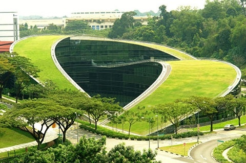 Amazing Green Roof Art School in Singapore
