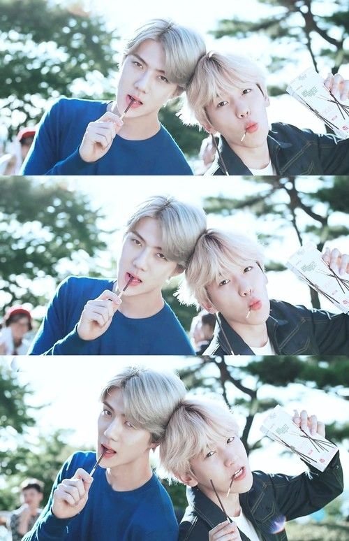 Sehun and Baekhyun- EXO oooooo Pockey sticks... I SO badly have to try this game.. taking turns holding it to see who can go the longest without actually kissing...