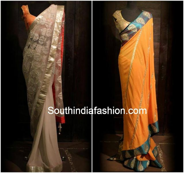 Designer Sarees by Shyamal and Bhumika ~ Celebrity Sarees, Designer Sarees, Bridal Sarees, Latest Blouse Designs 2014