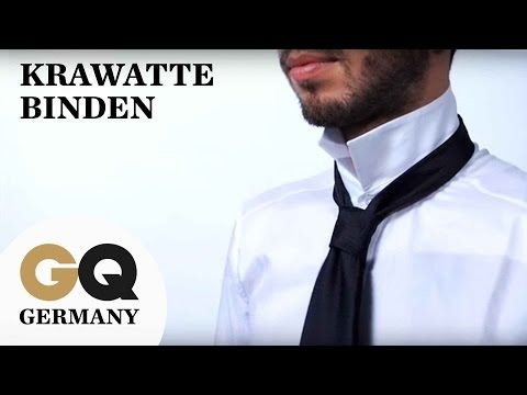 How To: Krawatte binden für Anfänger | GQ Style Tutorial - YouTube