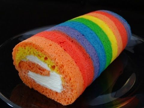 ▶ How To Make A Rainbow Cake Roll - with yoyomax12 - YouTube